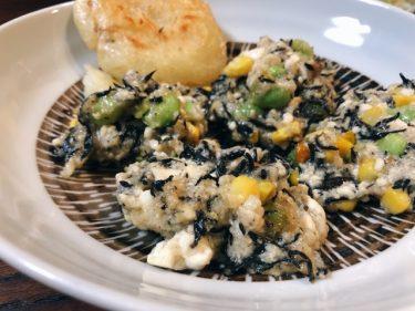 【ヘルシー】ひじきと豆腐の落とし揚げのレシピ・作り方