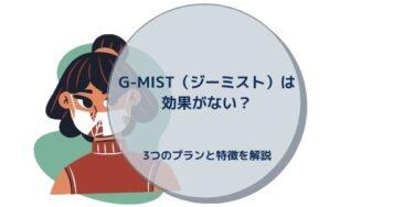 G-MIST(ジーミスト)は効果がない?3つのプランと特徴を解説