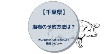 【千葉県】塩梅の予約方法は?大人気のとんかつ百名店を徹底レビュー